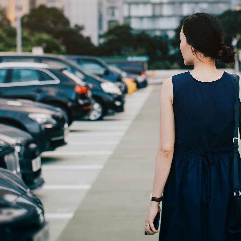 Insight Womaninparkinglot